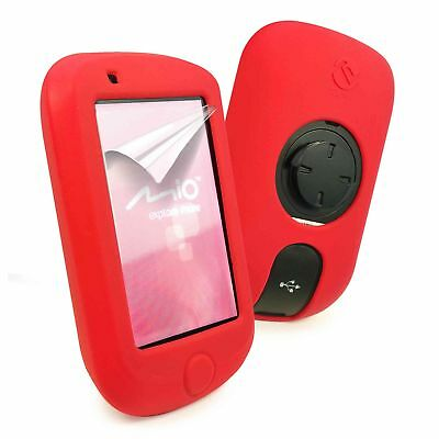 E-Volve Silicone Gel Skin Case Cover for Mio Cyclo 505 / 500 / 310 Series - Red
