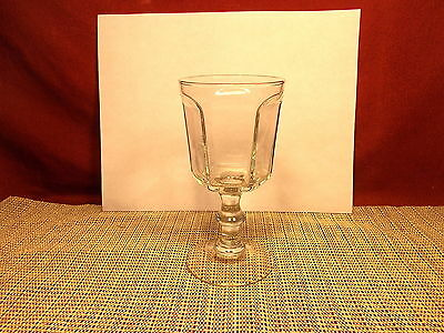 """Anchor Hocking Glass Courtney Clear Pattern Wine Goblet 6"""""""