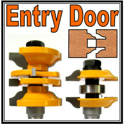 """2 pc 1/2"""" SH Entry & Interior Door Ogee Matched R&S Router Bit Set"""