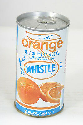 Fabulous Just Whistle Orange Soda Can S/S 12oz Pull Tab 70's - 8/11/14