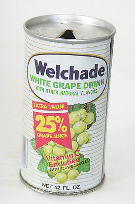 Welchade White Grape soda can 12oz S/S Pull Tab - 2/12/14