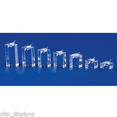 LOT OF 7 Pcs ACRYLIC RING DISPLAY SET COUNTERTOP DISPLAYS SHOWCASE DISPLAYS