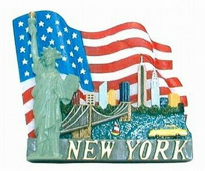 New Yok City Magnet,3D Poly,Souvenir USA,Freiheitsstatue,Empire ...