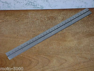 STARRETT 300mm SLOTTED STEEL RULE - SCALE NO 36 GRAD