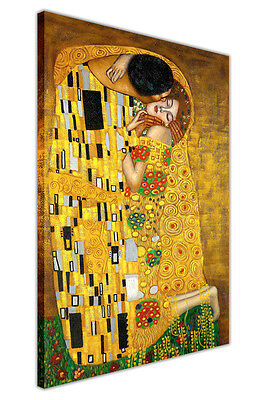 The Kiss By Gustav Klimt Canvas Wall Art Prints Home Decoration Pictures