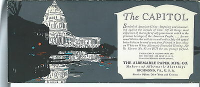 J-203- The Capitol, Washington DC  Ablemarle Paper Co Ink Blotter 1920's-50's