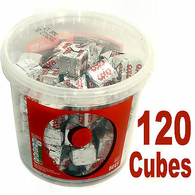 Oxo Cubes Beef 120 Individual Cubes  Ideal Gravy Stock Etc  New (2 Tubs)