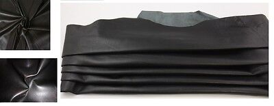 Sheep Leather Black Finished Sheep Skin  Sheep Hide Nappa 6 To 16 Square Feet