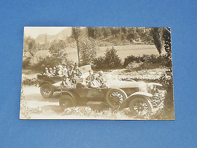 Rare Cpa Carte Postale Photo 1910-1920 Automobiles Autos Voitures