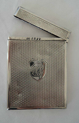 VICTORIAN HILLIARD & THOMASON 1879 STERLING / SOLID SILVER CARD CASE