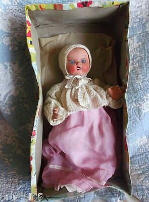 Lovely baby doll ceramic and carton 30s-40s, ALL ORIGINAL IN BOX