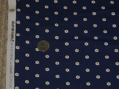 MICHAEL MILLER quilt-craft fabric Swirly Girl Designs SEIZE THE DAISY navy 2 yds