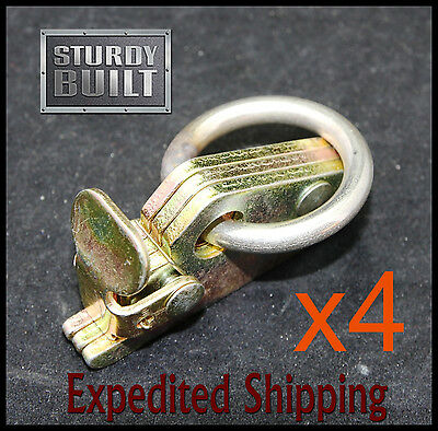 4x E Track Fitting 6.5mm O Ring Van Truck Enclosed Trailer Tie Down Stainless