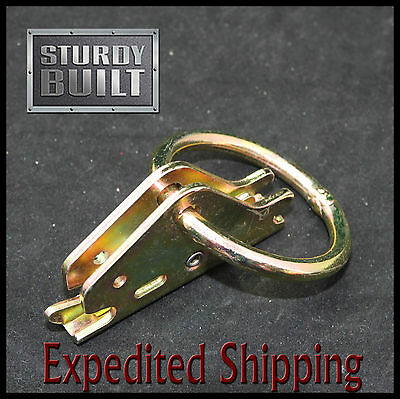 20x E Track Fitting 8mm O Ring Van Truck Enclosed Trailer Cargo Tie Down Srap
