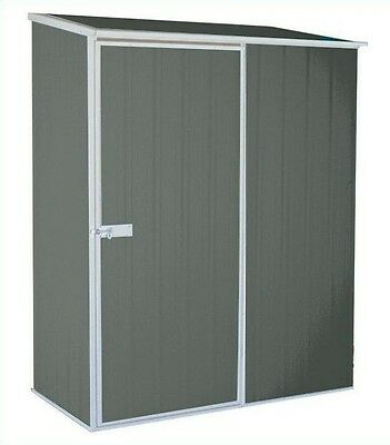 New Absco Eco-Nomy Range Grey Garden Shed Small Outdoor Tools & Bikes Storage