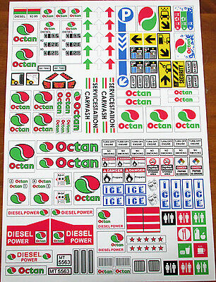 CUSTOM OCTAN GAS STATION STICKERS for LEGO 4207 7993 6562 6397 5563 + MORE