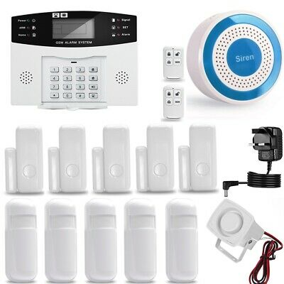 LCD WIRELESS GSM AUTODIAL SMS HOME HOUSE OFFICE SECURITY Guard INTRUDER ALARM