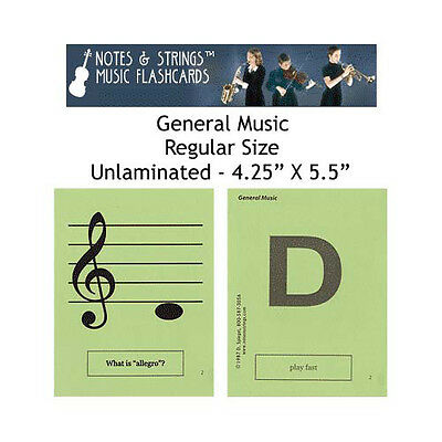 """General Music 4.25""""x5.5"""" Music Flashcards by N&S"""