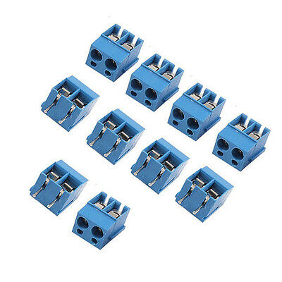 20PCS 2-Pin 2 way Screw Terminal Block Connector 5.08mm Pitch Panel PCB Mount
