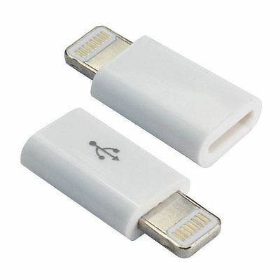 Wholesale 100X 8Pin to Micro USB Charger Converter Adapter For iPhone iPad iPod
