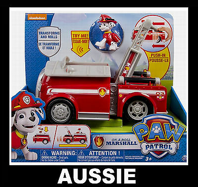 PAW PATROL Deluxe Talking, Sounds Vehicle ~ MARSHALL FIRE TRUCK ENGINE On A Roll