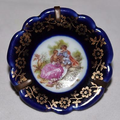 Limoges France - Cobalt Blue \u0026 Gold - CASTEL Mini 2\  Decorative Plate ... & LIMOGES FRANCE - Cobalt Blue \u0026 Gold - CASTEL Mini 2\