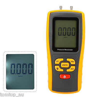 Professional GM510 Handheld Digital Manometer Differential Pressure Meter Gauge