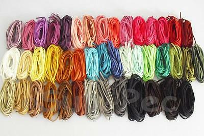 Soft Leather Lace Thong Cord fpr Jewelry Crafts Flat Faux Suede 5mm x 1m