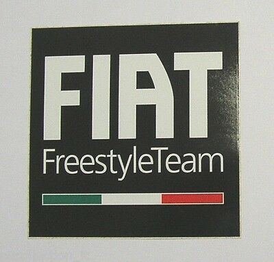 ADESIVO AUTO ORIGINALE / Originial Sticker FIAT FREESTYLE TEAM (cm 10x10) nero