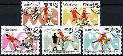 Laos 1994 SG#1386-90 World Cup Football Cto Used Set #A84834