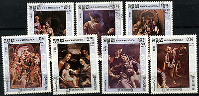 Kampuchea 1984 SG#578-584 Correggio Paintings Cto Used Set #A84738