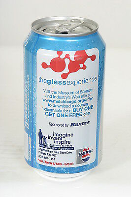 Diet Pepsi SODA CAN - Museum of Science Offer 12oz A/A Top Opened - 12/14/14