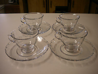 4) Sets Fostoria Century Cup and Saucer Sets (8) Pieces Total, BIN