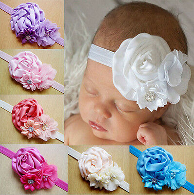Newest Kids Girls Baby Toddler Infant Flower Headband Hair Bow Band Accessories