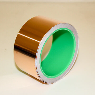 Copper Foil Tape - 10m x 50mm - EMI shielding, double sided conductive, adhesive