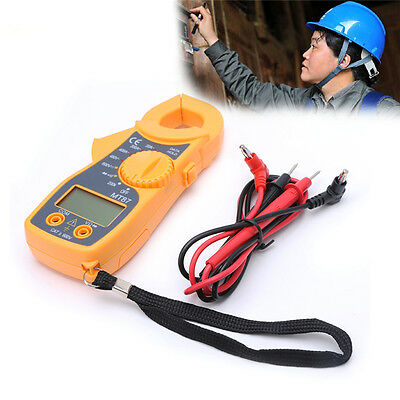 Digital LCD Clamp Ampere AC/DC Voltage Current Ohm Tester Multi-Meter Winddeal