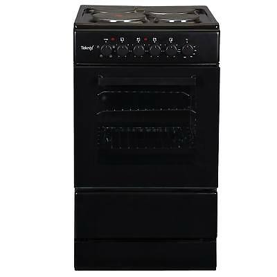 Teknix TK50SEB A 50cm Single Cavity Electric Cooker with 4 Burners in Black
