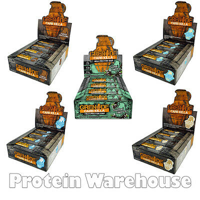 Grenade Carb Killa Bars 12 x 60g New Flavours Or Mix Box of 12 Protein Bar