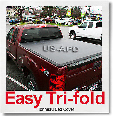 FOR 88-07 CHEVROLET/GMC SILVERADO/SIERRA 6.5' Bed Soft Tri-Fold Tonneau Cover