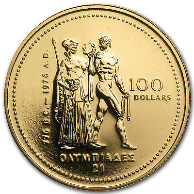 1976 Canada 1/4 oz Gold $100 Montreal Olympics Coin - SKU #59790