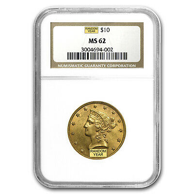 $10 Liberty Gold Eagle MS-62 NGC (Random) - SKU #1125