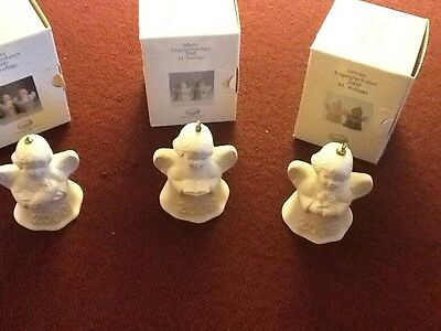 Goebel Annual Angel Bell Ornaments lot of 3