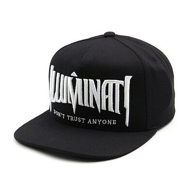 Unisex Mens Womens Illuminati Eye Baseball Cap Hiphop Snapback Hats Black/White