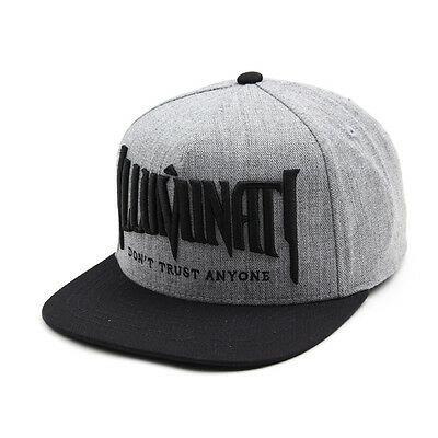 Unisex Mens Womens Illuminati Eye Baseball Cap Hiphop Snapback Hats Gray