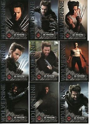 X-Men 3 The Last Stand  Chase Card Set Portraits of a Hero W1 - W9  Hugh Jackman
