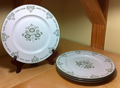 """Set of 4 Franciscan Heritage Family China 10"""" Dinner Plates"""