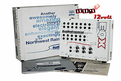 AudioControl EQX White Trunk-Mount 2-Channel Equalizer with 2-Way Crossover