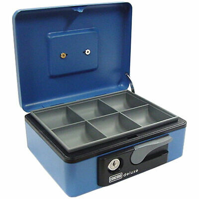 197mm BL Portable Sturdy Metal Cash/Money Box No.8 Organiser/Coins tray/key lock