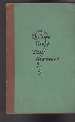 Do You Know the Answers? 1944 Plumbing & Heating Journal SC Book