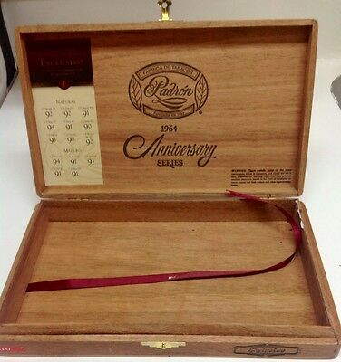 One wood empty cigar box crafts jewerly guitar Padron exclusivo size